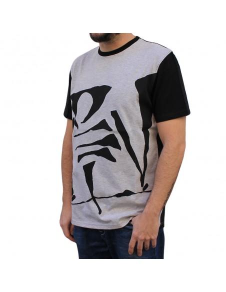 Camiseta VIOLADORES DEL VERSO BIG LOGO unisex, de algodón en color gris