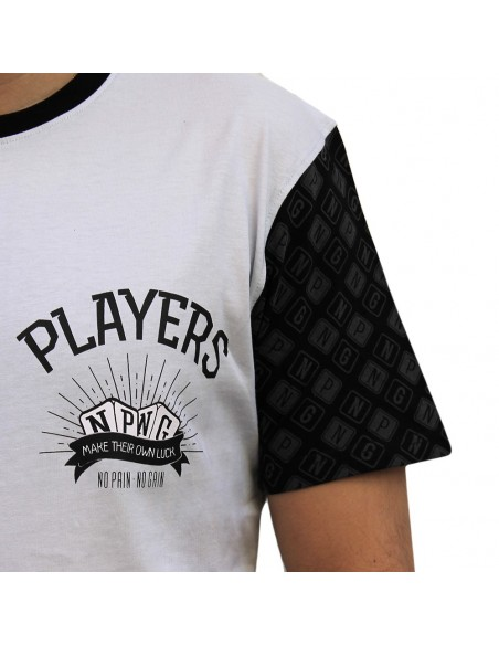 "Camiseta hombre NO PAIN NO GAIN  ""PLAYERS"" en algodón, color gris"