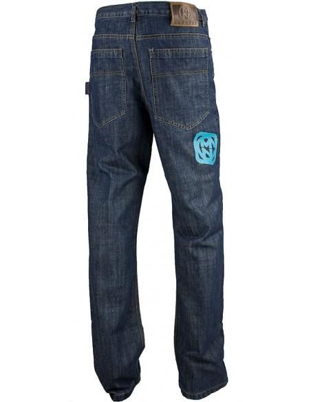 Pantalon COMUN98 KF PATCH AZUL detras