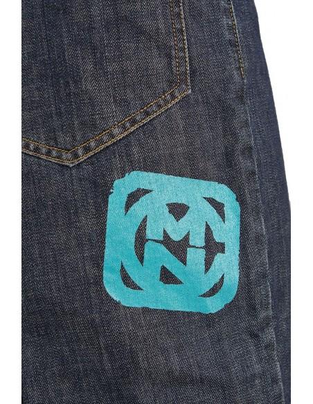 Pantalon COMUN98 KF PATCH AZUL detalle