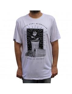 """Camiseta JAVATO JONES """"ESCORIA"""" BLANCA"""