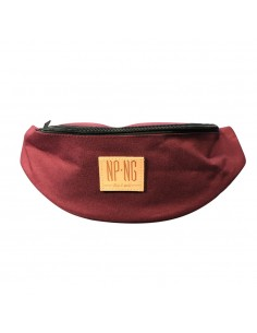 Riñonera NPNG KEEP CAMEL LABEL unisex, de polyester en color BURGUNDY