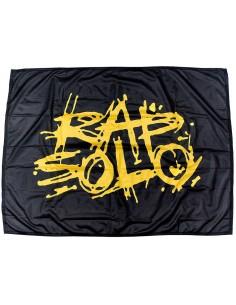 Bandera LOGO RAPSOLO de polyester en color negro