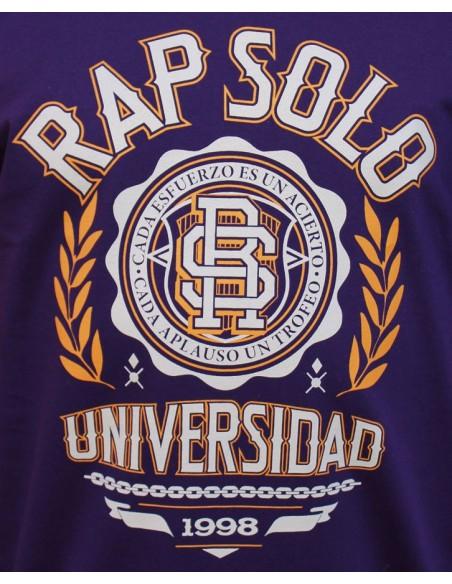 Camiseta RAPSOLO LOGO RS VIOLETA detalle1