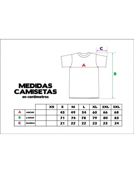 Camiseta ZGZ CIUDAD DE LEONES GRIS medidas