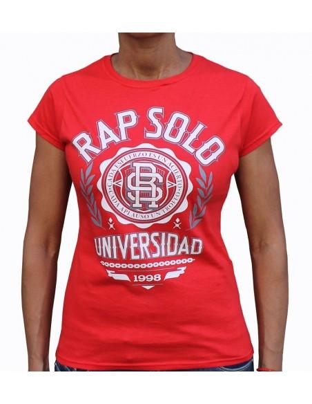 Camiseta Chica LOGO RS ROJA
