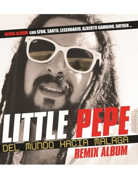 """LITTLE PEPE """"DEL MUNDO HACIA MÁLAGA (Remix Album)"""" Cd"""