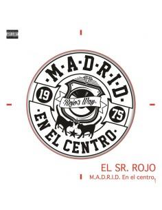 """CAMISETA BLANCA + MP3 EL SR. ROJO """"M.A.D.R.I.D. EN EL CENTRO"""""""