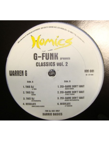 "G-FUNK PRESENTS ""CLASSICS VOL.2: WARREN G"" MX"