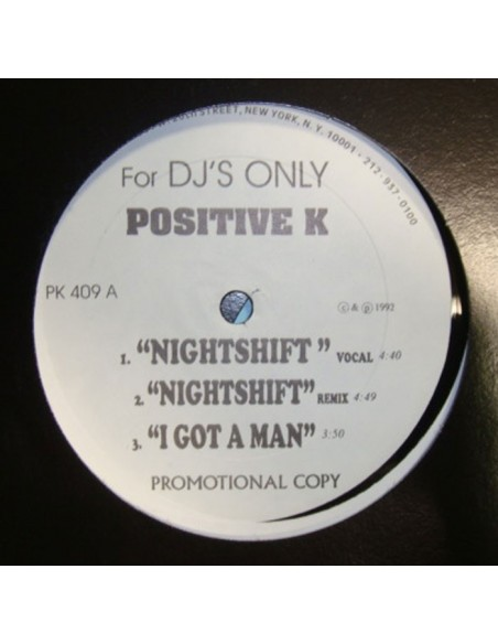 "POSITIVE K ""NIGHT SHIFT/I GOT A MAN/CAR HOP"" MX"