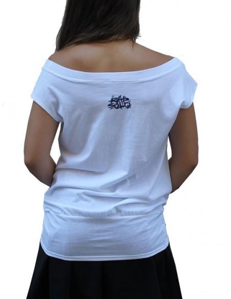 Camiseta Chica RAPSOLO UNIVERSIDAD 14 BLANCA