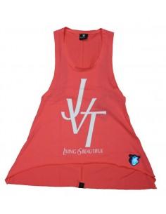 Camiseta chica  JAVATO JONES modelo JVT LIVING IS BEATIFUL en color ROSA