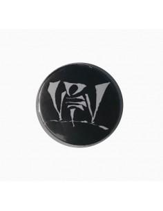 Chapa VIOLADORES DEL VERSO de metal en color negro