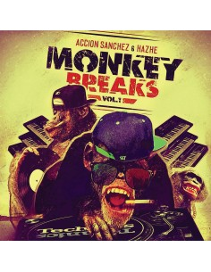 "VINILO ACCION SANCHEZ & HAZHE ""MONKEY BREAKS VOL.1"""