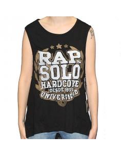 Camiseta Chica RAPSOLO UNIVERSIDAD 15 NEGRA