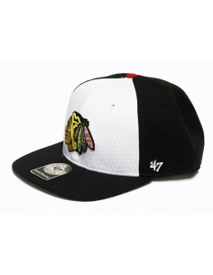 Gorra 47 BRAND CHICAGO BLACKHAWKS BLACK-WHITE