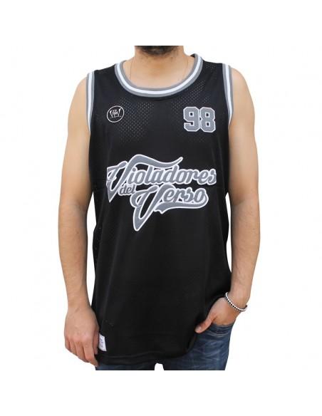 Camiseta de tirantes VIOLADORES DEL VERSO unisex, de polyester en color negro