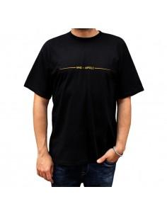 """Camiseta hombre NO PAIN NO GAIN X RAPSOLO """"IMPROVISANDO"""" en algodón, color negro"""