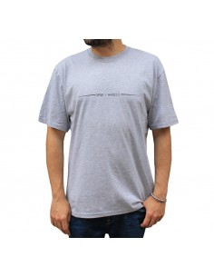"""Camiseta hombre NO PAIN NO GAIN X RAPSOLO """"IMPROVISANDO"""" en algodón, color gris"""
