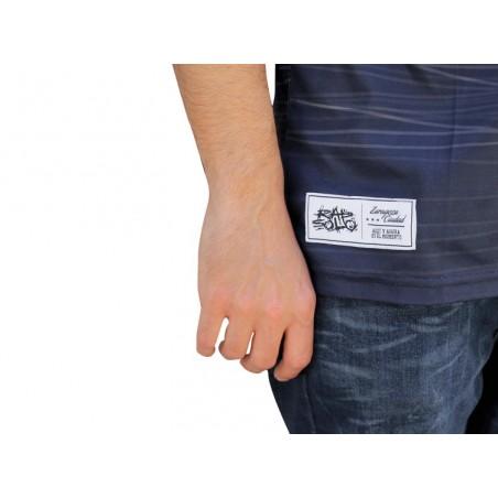 Camiseta Soccer RAP SOLO LOGO RS STRIPPED chico, de polyester en color azul marino