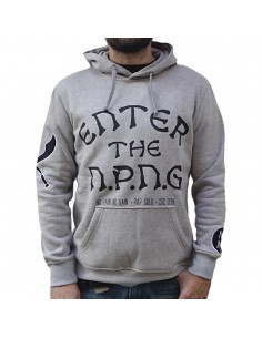 "Sudadera chico NO PAIN NO GAIN ""ENTER THE NPNG GREY"" en algodón color gris"