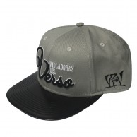 Gorra RAPSOLO VDV LEATHER unisex, de algodón en color gris