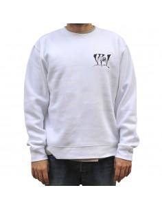 Sudadera VDV GENIOS99 BLANCA unisex, en algodón color blanco