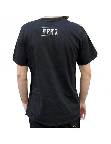 """Camiseta NO PAIN NO GAIN """"BENDITA LOCURA"""" unisex,de algodón en color negro"""