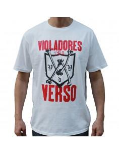 Camiseta VIOLADORES DEL VERSO BONES unisex, de algodón en color blanco