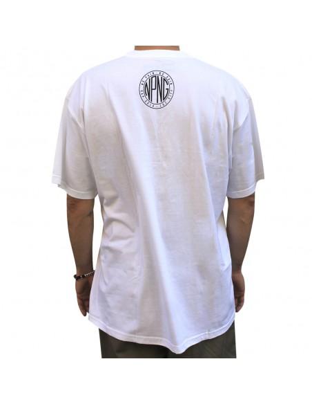 Camiseta NO PAIN NO GAIN LOGO NPNG unisex, en algodón color blanco