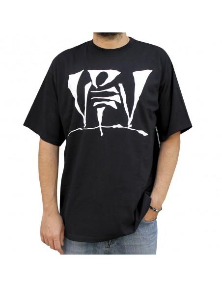 Camiseta VIOLADORES DEL VERSO LOGO 08 unisex, de algodón en color negro