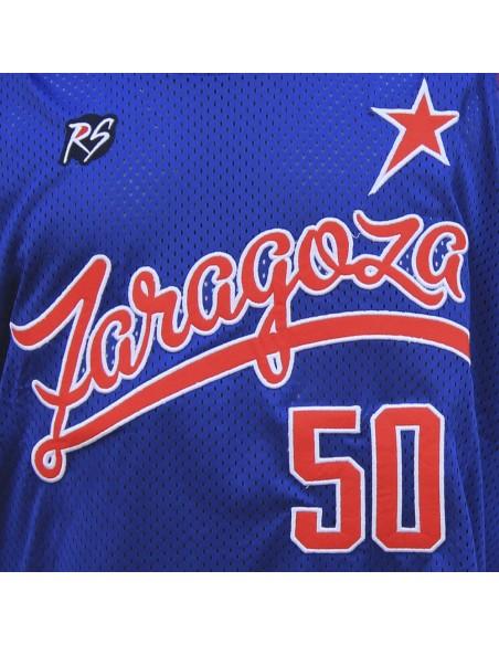 Camiseta de tirantes RAPSOLO ZARAGOZA ALL STARS unisex, de polyester en color azul