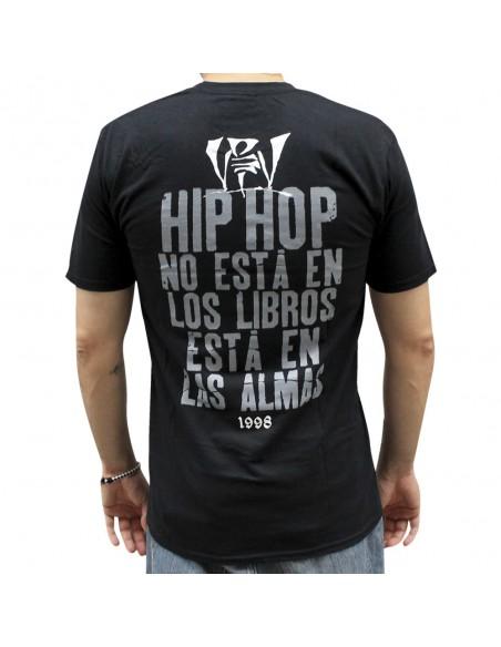 Camiseta VIOLADORES DEL VERSO BONES unisex, de algodón en color negro