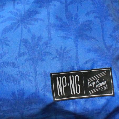 Mochila NPNG INDIGO PALM en polyester, color AZUL