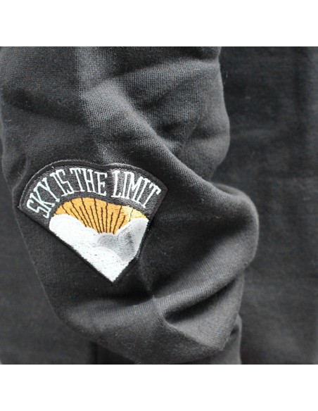 Sudadera hombre NO PAIN NO GAIN SKY IS THE LIMIT en algodón, color negro