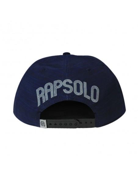 Gorra RAPSOLO STRIPPED unisex, de algodón en color azul marino