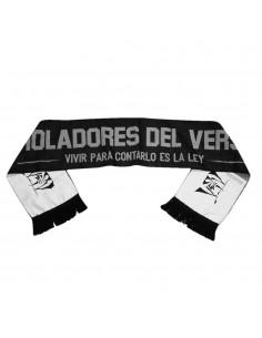 Bufanda VIOLADORES DEL VERSO unisex, de lana en color negro