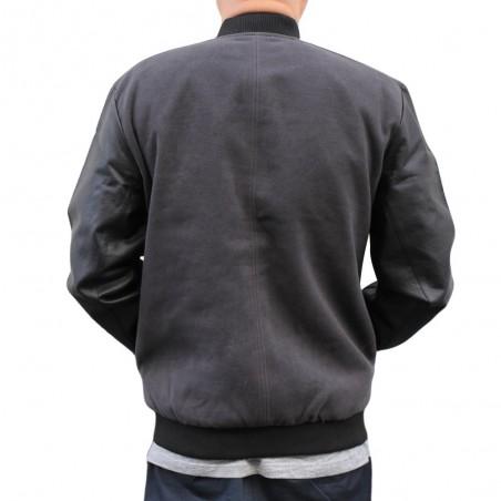Cazadora NO PAIN NO GAIN NPNG ASH JACKET en polyester, color gris y negro