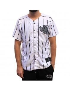 """Camiseta beisbolera JAVATO JONES """"WILD"""" BLANCA"""