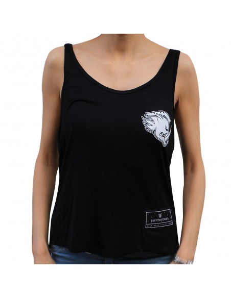 "Camiseta chica JAVATO JONES ""WILD"" NEGRA"