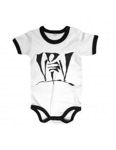 Body Bebé VIOLADORES DEL VERSO de algodón en color blanco y negro