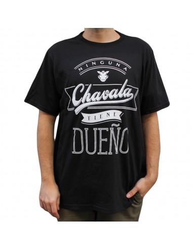 """Camiseta JAVATO JONES """"NINGUNA CHAVALA TIENE DUEÑO TXT"""" NEGRA"""
