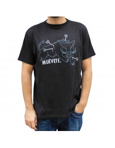 "Camiseta JAVATO JONES ""MUEVETE"" NEGRA"