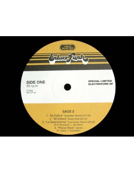 """VINILO EP SACE2 """"SPECIAL LIMITED ELECTROFUNK EP"""""""