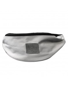 Riñonera gris claro NPNG KEEP GREY LABEL unisex, de polyester en color LIGHT GREY