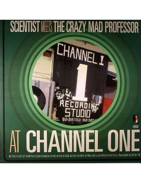 "VINILO LP SCIENTIST MEETS THE CRAZY MAD PROFESSOR ""AT CHANNEL ONE"""