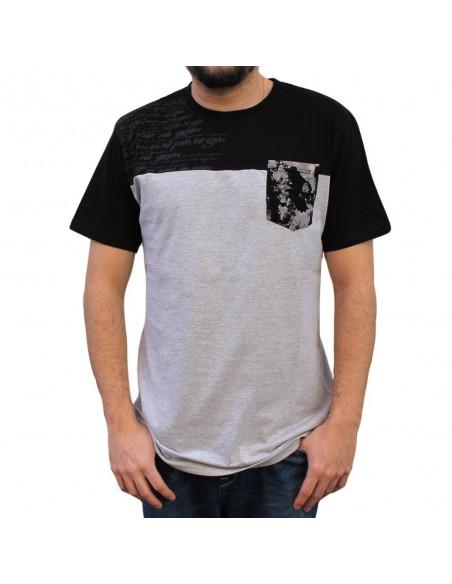 """Camiseta hombre NO PAIN NO GAIN  """"CALLIGRAPHY"""" en algodón, color gris"""