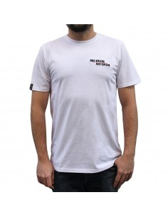 "Camiseta hombre NO PAIN NO GAIN  ""MINDSPRAY EMBROY"" en algodón, color blanco"