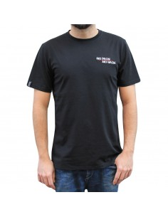 "Camiseta hombre NO PAIN NO GAIN  ""MINDSPRAY EMBROY"" en algodón, color negro"