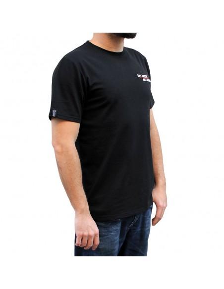 """Camiseta hombre NO PAIN NO GAIN  """"MINDSPRAY EMBROY"""" en algodón, color negro"""